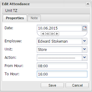 Add attendance