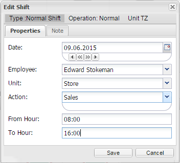 Add shift window