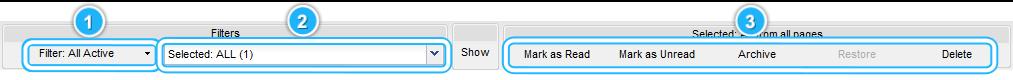 Filtering Toolbar