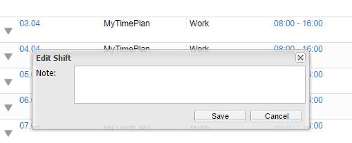 Edit Note Window
